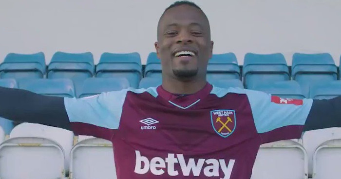 Patrice Evra Signs For West Ham